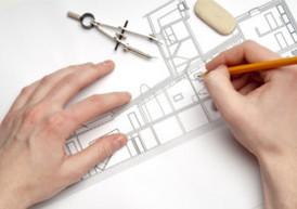 Plan d'architecte Alès et Nimes, Gard.