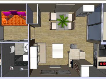 rénovation studio la Grande Motte