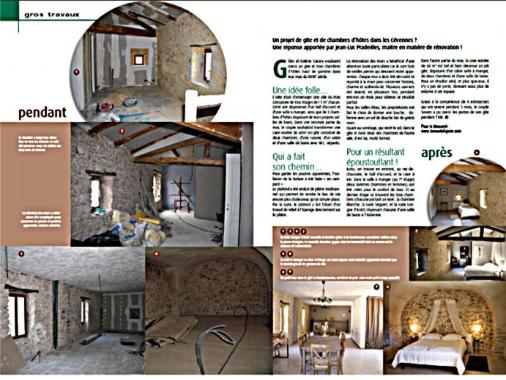 article sur la rénovation du mas du Figuier à Vézenobres